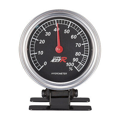 Mechanics Thermometer Hygrometer Clock Time Steel Core Pointer For Auto Car