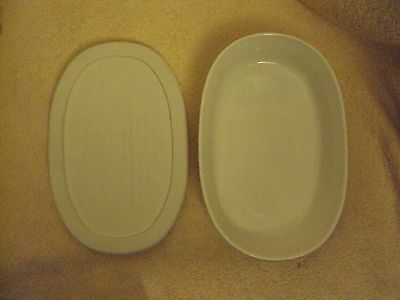 Corning Ware~French White Stoneware~15 oz.~Microwave & Oven Safe~With Lid