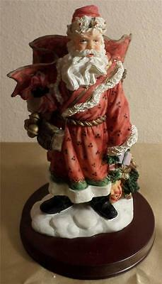 In original box Dillard's Trimmings 10 inch TRADITIONAL SANTA CLAUS handcrafted