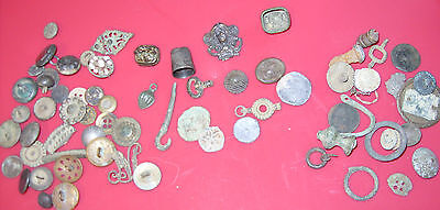 Large Lot of Relics - 1700s and 1800s - Jewelry, Buttons, Tokens