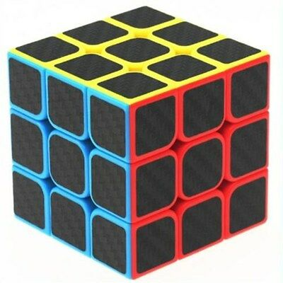 3x3x3 Carbon Fiber Ultra-smooth Magic Cube Speed Rubik's Twist Puzzle Kids Toys