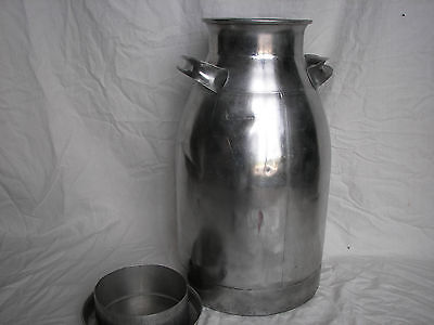 40 qt Stainless cream can 10 gal Firestone Sanaloy milk can