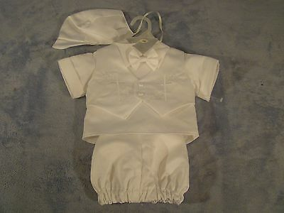 Boys Tip Top Infant Christening Baptism White Outfit  Size 3 M