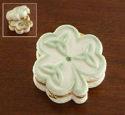 Lenox Irish Shamrock Celtic Trinity Treasure Box - New W Tags
