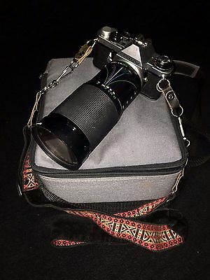 1979 Pentax ME Super Camera with 50mm & Vivitar 28-200mm Lens (Papers Included)