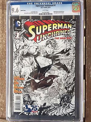 Superman Unchained  #1 sketch variant, 1st print, white pages cgc 9.6
