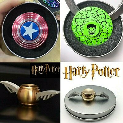 Captain America Harry Potter Snitch Fidget Spinner FAST DELIVERY Buy 2 pay less!