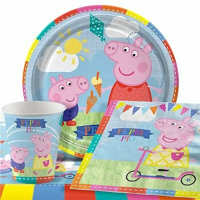 Peppa Pig Birthday Party Guest Pack 8-48 Set Tableware Plates Cups Napkins
