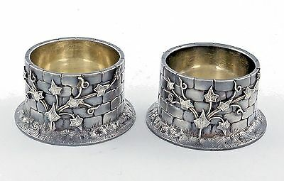 Pair Large John Wendt Sterling Master OPEN SALTS Applied Ivy