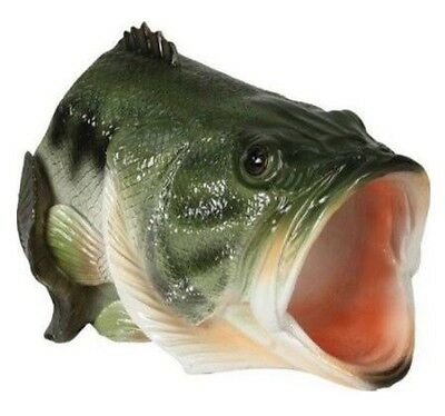 (REDUCED)- Large Mouth Bass Decorative Fish Statue Paper Weight Gutter Downspout
