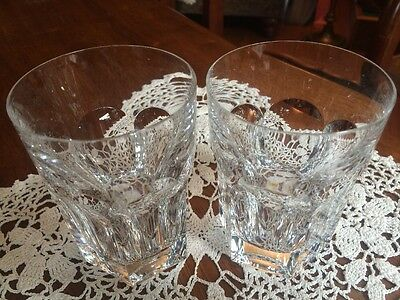 """Two Baccarat France Crystal Harcourt 4 1/8"""" Tumblers 8 Oz"""