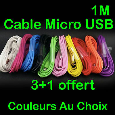 Câble Micro Usb Universel Chargeur Recharge Sync Pour Samsung Wiko Lg Sony