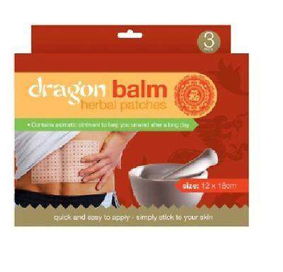 Dragon Balm Herbal Patches With Aromatic Ointment 3 Large Patches 12Cm X 15Cm