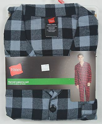 Hanes #4140 NEW Men's 100% Cotton Flannel Pajama Set