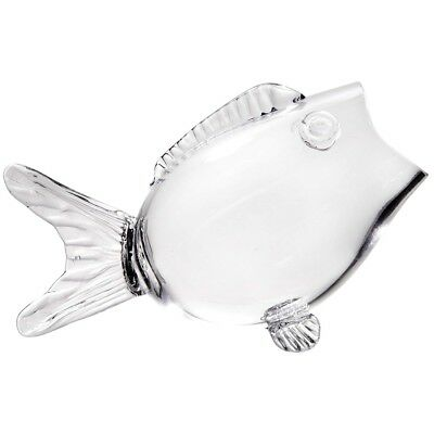 """Fish Shaped Bowl - Clear Glass Candy, Nut, Serving Bowl - 9.5"""" Long"""