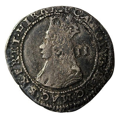 England Charles II 1660-1685 AR Silver Twopence Hammered Coin S.3327