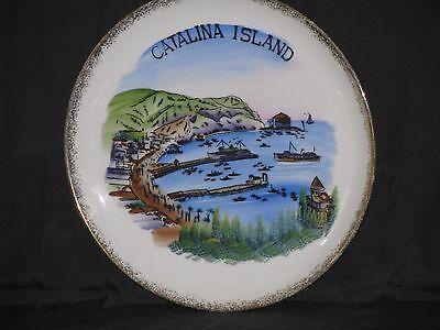 Vintage Catalina Island Hand Painted Plate