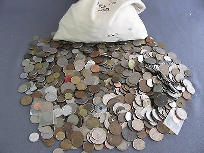 ONE POUND 1 Lb Bulk Unsearched WORLD COINS FOREIGN COIN LOT