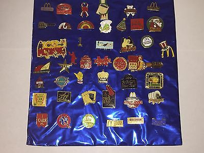 Lot of 45 RARE McDonald's Employee & Management Team Member Collectible Pins