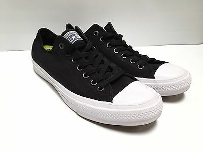 Converse II with Lunaron All-Star Black/White Low Top US Men's 9.5