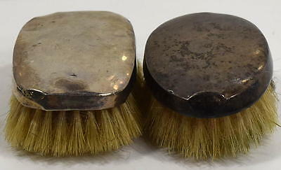 2X Antique Sterling Hallmarked Clothes Brushes