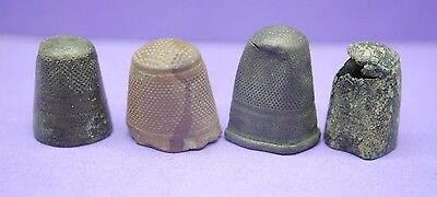 Group of 4 Medieval bronze thimbles 15th century AD