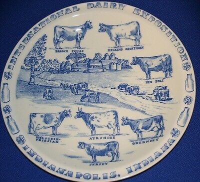 """10"""" Cow Plate International Dairy Exposition Indianapolis Indiana Jersey & More"""