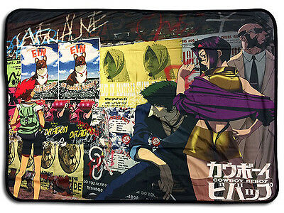 **License** Cowboy Bebop Spike Faya Jet Group Sublimation Throw Blanket #57747