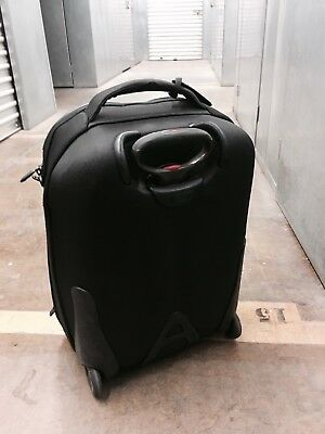 "Used Tumi T-Tech 20"" River Black International Wheeled Carry-On Luggage Travel"