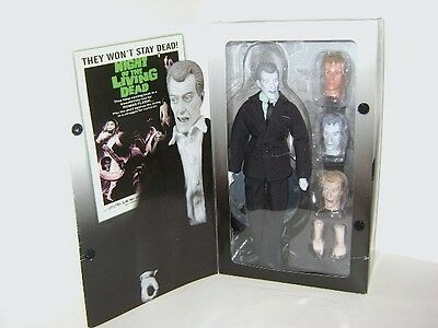 "Night of the Living Dead 12"" Collectors Cemetery Zombie Action Figure Doll w Box"