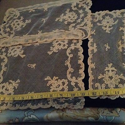 Antique Lace Floral Net Dressing Table Runners