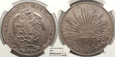 MEXICO 1893-Ca MM 8 Reales NGC MS-61
