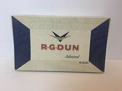 R.G.DUN admiral cardboard  Cigar Box (Empty),for 50 cigars, 10 cents