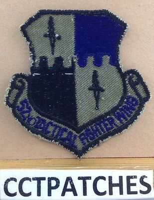 Usaf 52Nd Tactical Fighter Wing Air Forces Patch