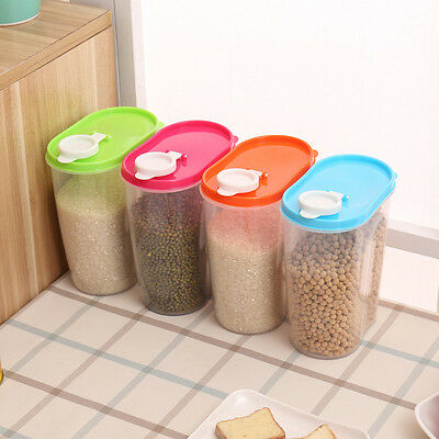 Food Grain Cereal Bean Rice Plastic Storage Container With Measuring up Hot 2017