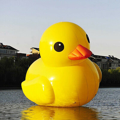 10ft Outdoor Giant Inflatable Promotion Yellow Rubber Duck Floats Pool Lake