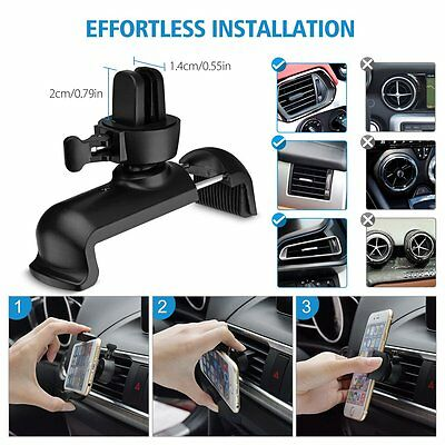 MPOW Rotatable Cell Phone GPS Air Vent Car Mount Cradle Holder Stand Universal