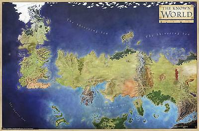 Game of Thrones The known world map Art Silk Poster Wall Decor