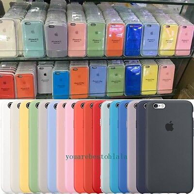 Ultra-Thin Genuine Silicone Leather Soft Case Cover For Apple iPhone 7 7 Plus