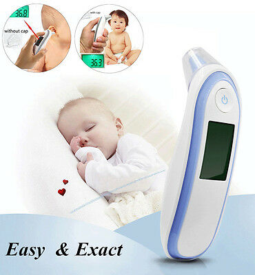 Digital IR Infrared Laser Body Thermometer Ear & Forehead Baby Adult Temperature