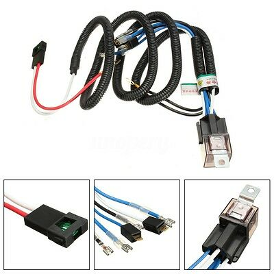12V Truck Car Horn Relay Wiring Harness Kit For Grille Mount Compact Tone Horns