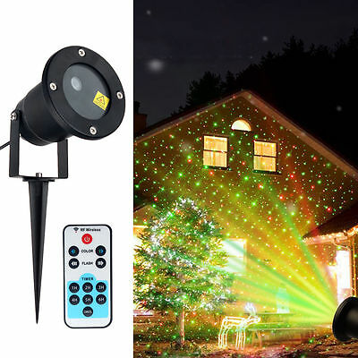 Red Green Firefly Starry Shower Laser Light Projector Garden Party Halloween