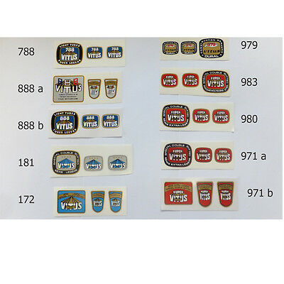 Vitus 979, 971, 983, 980, 172, 788, 181or 888 decals F & F choice one set only