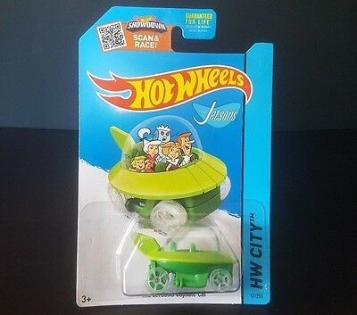*BRAND NEW* 2013 MATTEL HOT WHEELS THE JETSONS CAPSULE CAR 1:64 Scale MOC TV