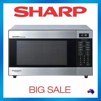 Sharp R395YS Inverter Sensor Microwave Oven Cook Stainless Steel 1200w 395Y S