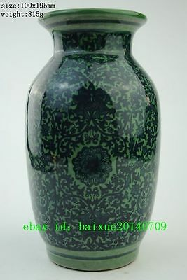 Chinese Decorative Blue&White Porcelain Chinese Old Painting Flowers noble Vases