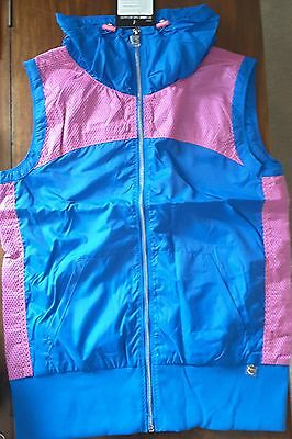 Womens Lorna Jane Oasis S/Less Jacket Capri Blue & Pink Sale RRP$95-99