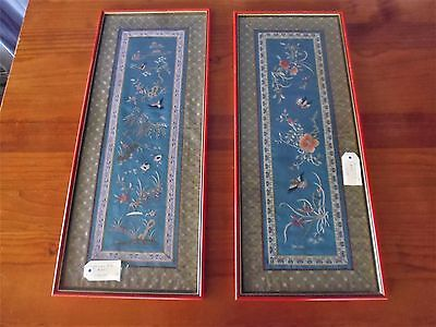 2 x Framed Embroidery Chinese, 370489