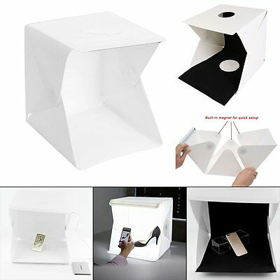 "Light Room Photo Studio 16"" Photography LED Lighting Tent Backdrop Cube Mini Box"