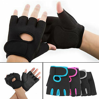 1Pair Work Out Half Finger Gloves Women Men Weight Lifting Gym Exercise Training